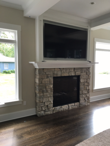 A home after fireplace repair in Pittsford, NY