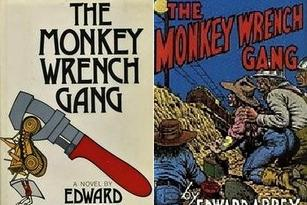 American Author EDWARD ABBEY THE MONKEY WRENCH GANG ROBERT CRUMB ARTWORK 1975/85