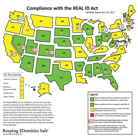 REAL ID Map