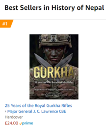 Amazon best selling book on Gurkhas - 29 December 2019