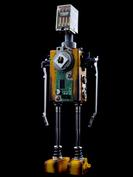 Xenon retro robot sculpture art