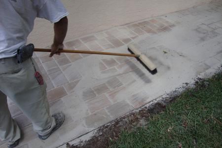 Sweeping in Paver Joint Sand