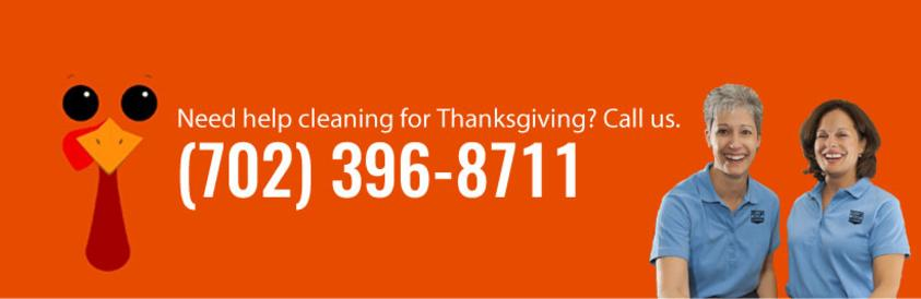 Phone number for cleaning service. Call Always Ready Cleaning at (702) 396-8711 for cleaning services. Pictured with 2 professional maids in uniform. Thanksgiving Turkey