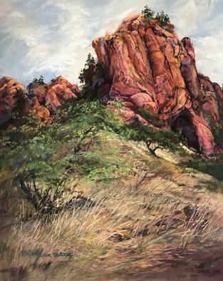 The Aerie, plein air pastel landscape by Texas artist Lindy C Severns