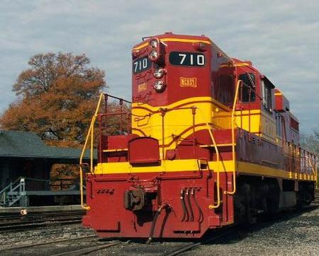 NC&StL GP7 710 at the East Chattanooga Yard on the Tennessee Valley Railroad Museum Property in Chattanooga.
