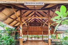 Entrance to outdoor shala