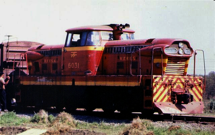 Locomotive No. 6031 of RFFSA, a GMD GMDH-1.