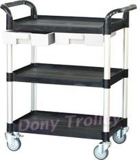 3 shelf food cart manufacturer with plastic drawer