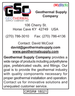 Geothermal Products, Geothermal Supply