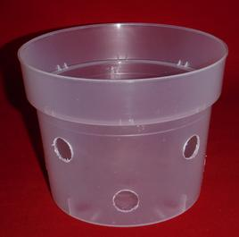 clear plastic orchid pot 5.5 inch holes UV McConkey extra holes