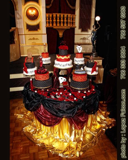 CAKE QUINCEANERA MIAMI PHANTOM OF THE OPERA
