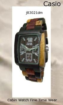 Watch Information Brand, Seller, or Collection Name Tense Wood Watches Model number J8302IDM DF Part Number J8302IDM DF Item Shape Rectangular Dial window material type Mineral Display Type Analog, Dial Clasp Squeeze Deployment Case material Wood Case diameter 36 millimeters Case Thickness 12 Band Material Wood Band length Adjustable and comes with instructions Band width 24 millimeters Band Color Multi Wood Dial color Brown Special features Makes a great unique gift Movement Miyota from Citizen Japan