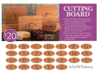 LaTeeDa Cutting Boards Fundraiser