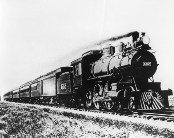"Wabash Railway's The ""Banner Limited"" dating from the turn of the century, traverses the 286 mile route between St. Louis and Chicago."