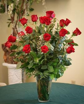 Two Dozen Long Stem Red Roses