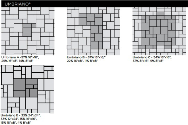 Unilock Umbriano Paver Pattern Images and Information