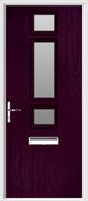 3 Square Strip Composite Door obscure glass
