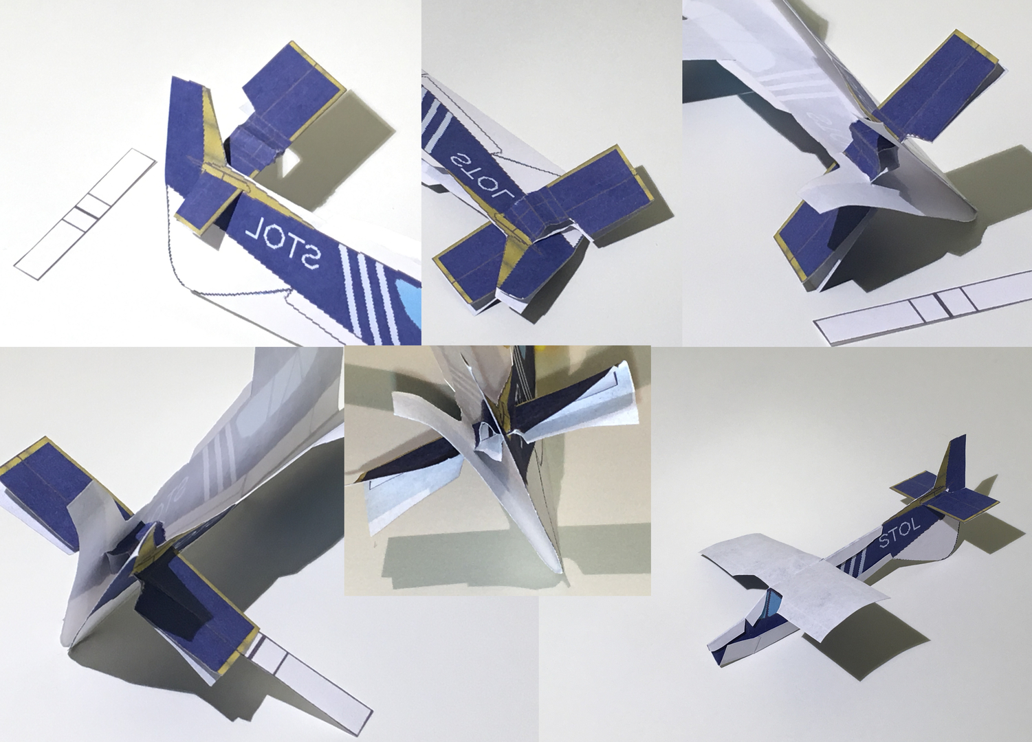 4D paper airplane - Paper Airplane Template, STOL Aircraft