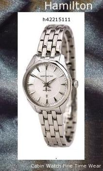 Watch Information Brand, Seller, or Collection Name Hamilton Model number H42215111 Part Number H42215111 Item Shape ROUND Dial window material type Scratch Resistant Sapphire Display Type ANALOGUE Case material Stainless Steel Case diameter 30 millimeters Band Material Stainless Steel Band width 16 millimeters Band Color Silver Stainless Steel Dial color Mother of Pearl Bezel material Fixed Stainless Steel Movement Automatic Water resistant depth 50,hamilton watch