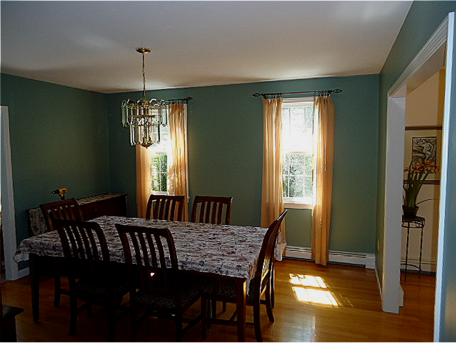 Newly painted dining room Foxboro, MA.