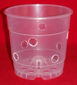 ultra clear plastic orchid pot 4.5 inch holes UV Poppelmann Teku extra holes