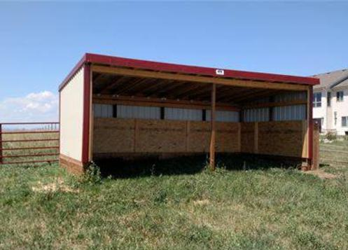 3 sided shed storage or animal shelter shed