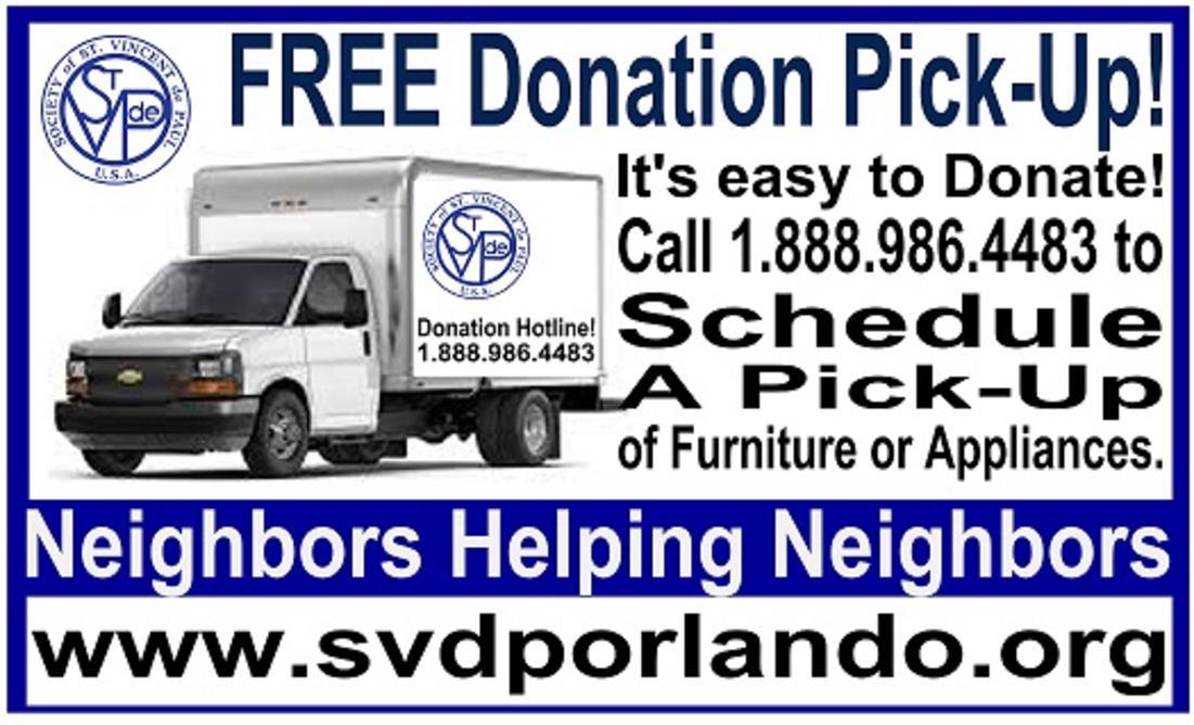 Furniture Donation Pick Up Orlando Online Information