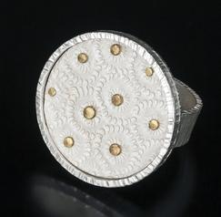Carol Holaday - Flores Del Mar - silver and 18k gold ring