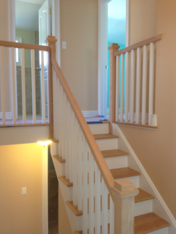 Box Newel Straight Staircase