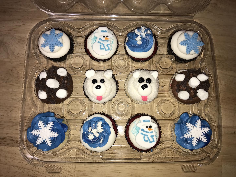 Snow Day Cupcake Dozen