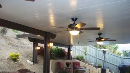 Aluminum Patio Covers Rancho Cucamonga CA, Alumawood, Rain Gutter