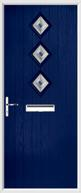 3 Diamond Composite Door fusion art glass