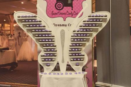 sweet dreams candy cart ferrero rocher butterfly stand hire sussex