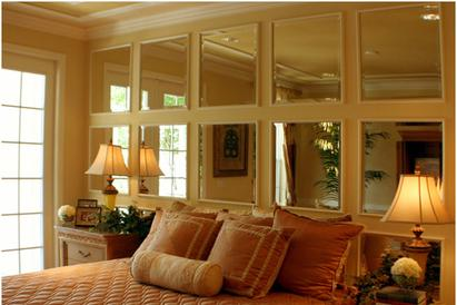 Picture of beveled mirrors