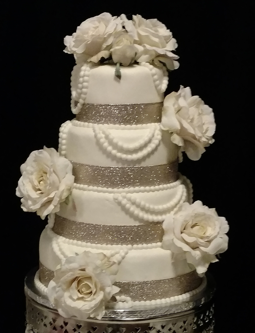 Custom made cakes and cookies in West - Wedding Cakes 2 Lace, bling ...