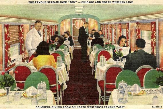 Dining car on the C&NW 400 Streamliner.