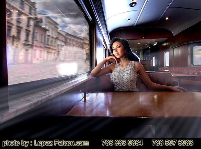 Quinces Miami Train Station Quinceanera photo Video Dresses Trains