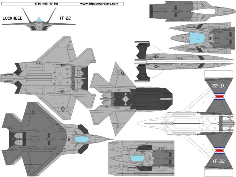 4D models of Lockheed YF-22.
