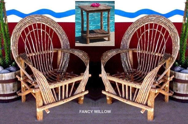 Western Patio Furniture.Fancy Willow Patio Set Outdoor Decor Dining Furniture