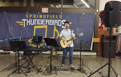 Kyle Langlois performs at The Springfield Thunderbirds, Springfield, MA