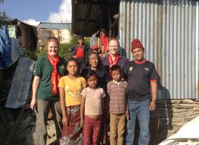Craig Lawrence in Nepalese Gurkha village