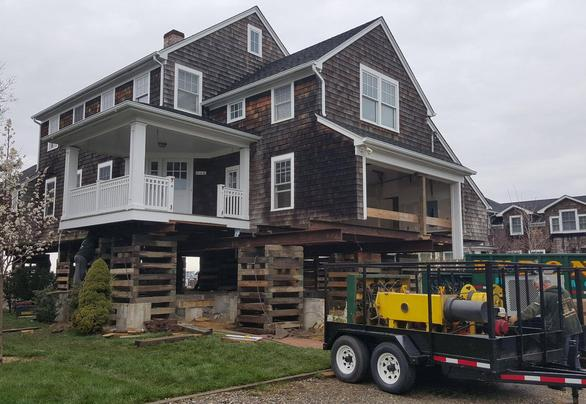 A home that received our home raising services in Long Beach Township, NJ