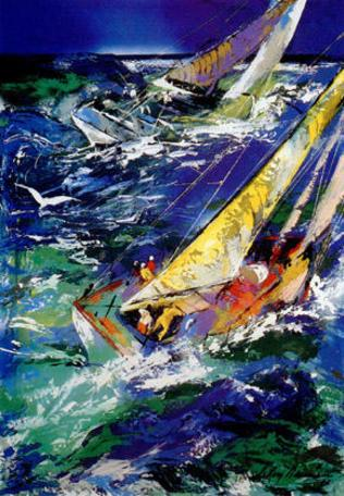 LeRoy Neiman High Seas Sailing II