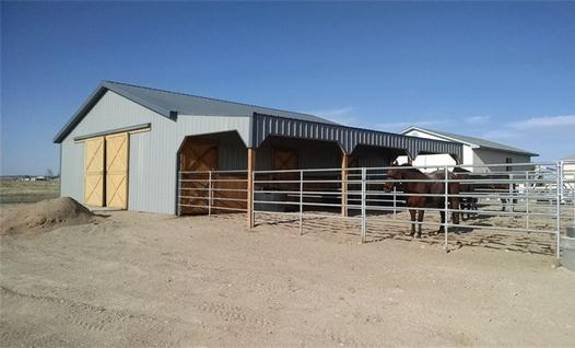 Pole Barn Lean To Storage Horse Dutch Doors
