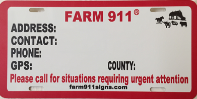 Farm 911® Signs - Order Form, Customer Order Form, To Purchase on garden order form, signage order form, hayes order form, avon order form, standard order form, color guard order form, division order form, knox order form, logo order form, liberty order form, wilson order form, poster order form, bellevue order form, button order form, brochure order form, customer order form, baxter order form, photography order form, 31 order form, gage order form,