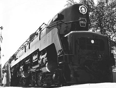 PRR 5549, a production series T1. 5549 was the last of the 27 T1s constructed by Baldwin.