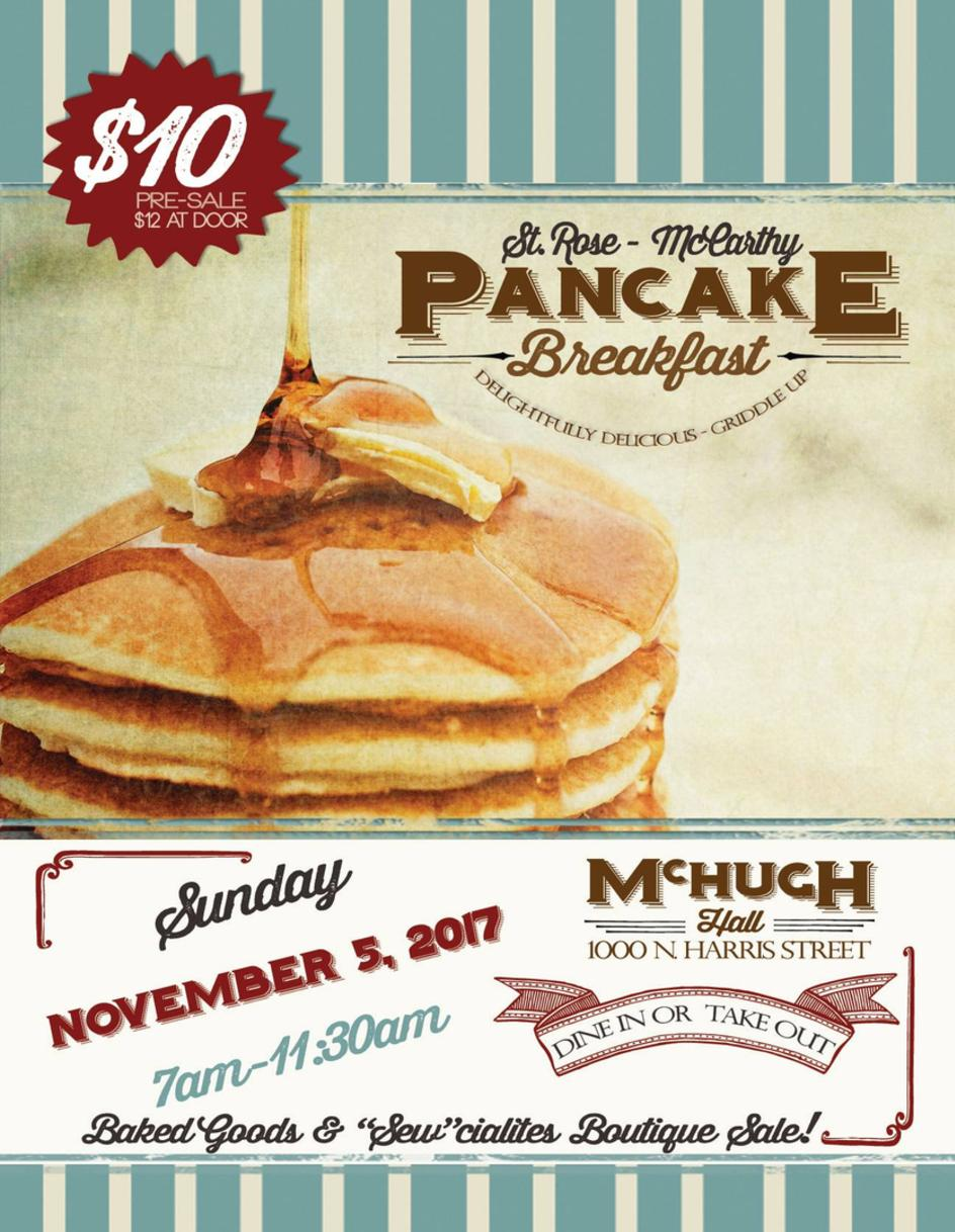 Pancake Breakfast at St. Rose-McCarthy