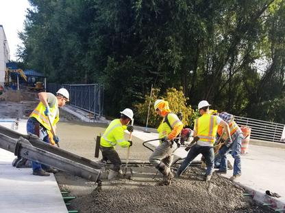 Photo of Construction Workers on a King County Metro Project