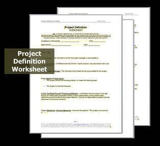 Project Definition Worksheets or Enhanced Project Charter ...