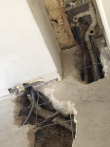 Image of drain lines in slab of home in Lakeway, Texas